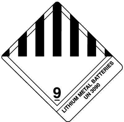 """Источники тока литиевой группы по правилам международной ассоциации воздушного транспорта (International Air Transport Association, IATA) попадают под определение опасных грузов (группа UN 3090 в 9 классе опасности """"Прочие опасные грузы"""")"""
